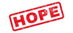 Hope Text Rubber Stamp Stock Illustration
