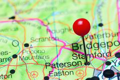 Paterson pinned on a map of New Jersey, USA Kuvituskuvat