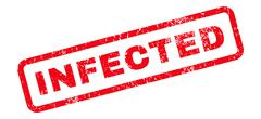 Infected Text Rubber Stamp Stock Illustration