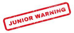 Junior Warning Text Rubber Stamp Stock Illustration