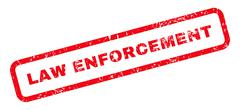 Law Enforcement Text Rubber Stamp Stock Illustration