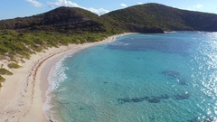 Aerial view of Savannah Bay, Virgin Gorda, British Virgin Islands Stock Footage