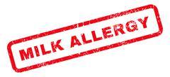 Milk Allergy Text Rubber Stamp Stock Illustration