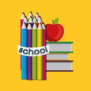 Back to school season Stock Illustration