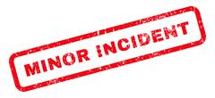 Minor Incident Text Rubber Stamp Stock Illustration