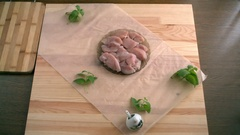 Chicken fillet. Stock Footage
