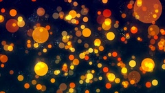 HD Loopable Background with nice orange bokeh Stock Footage