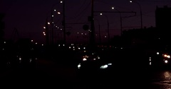 Cars moving slow in the dark Stock Footage