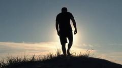 Top Of The Dune Overlook Man Stock Footage