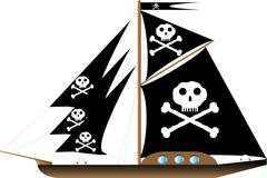 Pirate vessel Stock Illustration