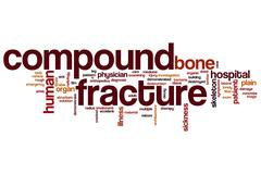 Compound fracture word cloud Stock Illustration