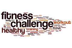 Fitness challenge word cloud Piirros
