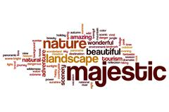 Majestic word cloud Piirros