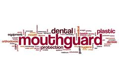 Mouthguard word cloud Stock Illustration