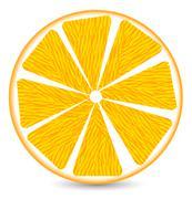 Orange segment Stock Illustration