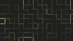 Technical background of digital squares on a black background Stock Footage