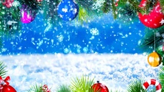 HD Loopable Background with nice snowflakes and xmas motive Stock Footage