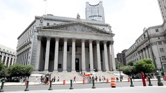 New York County Courthouse Stock Footage