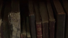Old Books at Library Stock Footage