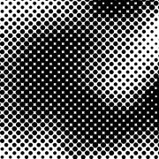 Black and White Halftone Background Stock Illustration