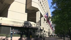The J. Edgar Hoover Building in Washington, DC Stock Footage