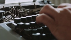 Writer typing with retro writing machine. Stock Footage