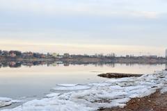 View of Neva River. Stock Photos