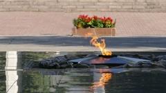 Eternal Flame Almaty Central Park 4K Stock Footage