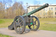 Old cannon, St.Petersburg. Stock Photos
