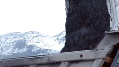Bucket scoops coal Stock Footage