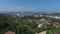 Aerial view on Sochi city at summer, Russia, 4k Stock Footage