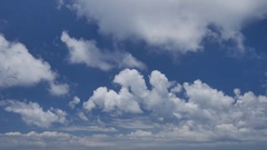 Nice ungraded UHD shot of the blue cloudy sky in the morning Stock Footage