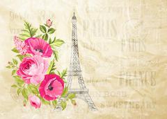 Eiffel tower simbol Stock Illustration
