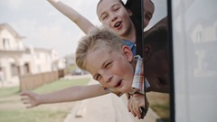 Big Travel for Little Kids Stock Footage