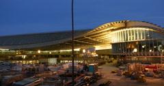 Forum des Halles Jardin Nelson-Mandela Paris construction site Stock Footage