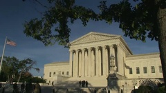 The US Supreme Court in Washington, DC Stock Footage