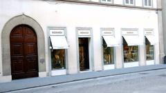 Hermes store. Via Tornabuoni, Florence. Italy. Stock Footage