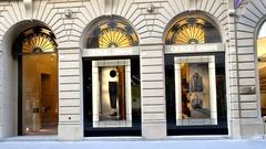Giorgio Armani store. Via Tornabuoni, Florence. Italy. Stock Footage