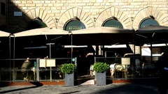 Rivoire bar. Florence, Italy. Stock Footage