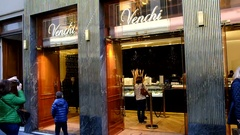 Venchi chocolate shop, Florence. Italy Stock Footage