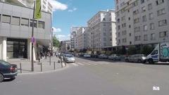 Paris Street Scene 19th Riquet Stalingrad Neighborhood Stock Footage