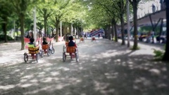 Children Chairot Race in Park Stock Footage