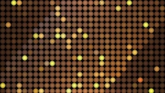 Golden reflectors and sparkles background. Seamless looping Stock Footage
