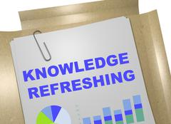 Knowledge Refreshing concept Stock Illustration