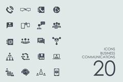 Set of business communications icons Stock Illustration