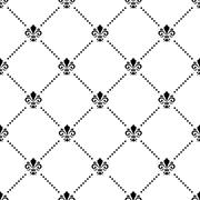 Seamless Pattern With Royal Lily Stock Illustration