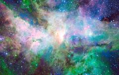 Nebula and stars in deep space. Stock Photos