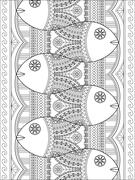 Lovely adult coloring page Stock Illustration