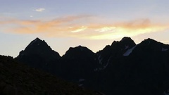 Mountains Silhouette Sunrise Background 4K Stock Footage