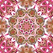 Oriental colorful ornament. Seamless vector ornate background. Beautiful pattern Stock Illustration